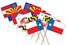 U.S. States Toothpick Flags / We have the largest selection of American made Toothpick Flags on the web. Check out our selection of world flags and stock designs for your special occasion!