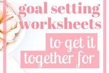 Goal Setting + Productivity / Goals    Goal Setting    How To Set Goals    Productivity    Productivity Tips    Goal Setter    Goal Setting Worksheets    Life Goals    Productivity Planner    Productivity Hacks