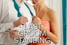 IV: Last Groom Standing by Kimberly Lang / Marnie Price's guide to surviving the bridesmaid blues…      1). Get a new man     2). Find a new job     3). When in doubt, drink wine!  Having watched her three closest friends all find love, Southern belle Marnie Price feels as if she's the only single girl left. Luckily she's found a solution—one sizzling night with Dylan Brookes. This man wears a wedding tux better than anyone, but all Marnie wants to do is get beneath it! Out in October in #HarlequinKISS #romance