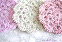 crochet mandalas/coasters