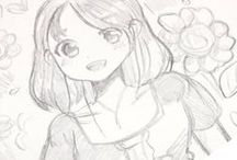Kawaii Girl Drawing / Drawing Angie ART manga girl with pencil. I watch my video on YouTube.
