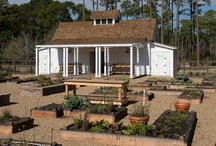 Garden Shed / The Mount Pelia garden shed  is a gardeners  dream and is  located in Palmetto Bluff in South Carolina. Hand built lockers, stable doors, raised beds and potting tables make gardening a pleasing, fun and  relaxing experience.