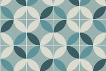 Purpura cement tiles: Patterns / Purpura tiles reinvent traditional patterns with bold color ideas