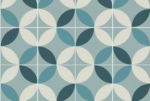 Purpura cement tiles: Patterns / Purpura tiles reinvent traditional patterns with bold color ideas