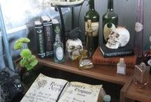 Witch Books, Spells, Curses & Charms / Witch's den ideas for Halloween
