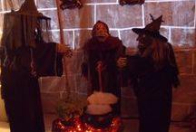 2014 My Halloween Witches Den / Well I finally got my deck decorated as the witches den.