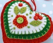"""Christmas & Other Felt Ornaments / One of these days if I ever get the talent or energy I will make some of these and set up a """"homemade"""" tree. I love these cute ornaments. I love the bright, cheerful colors. These are so sweet & adorable."""
