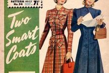 1940s Fashions / Fashions from the World War II era.