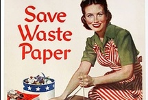 WWII Scrap Collection & More / During WWII, civilians collected scrap metal, paper, rubber, kitchen fats, and old stockings for military use.