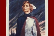 """Nursing in WWII / During World War II, 57,000 women served in the US Army Nurse Corps (ANC), 11,000 in the Navy Nurse Corps (NNC), and 6500 in the Army Air Forces. More than two hundred nurses died serving their country. (Also see my """"World War II Flight Nurses"""" board) / by Sarah Sundin"""