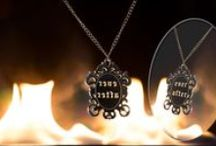 Mirror Mirror on the Wall.... / Magic Mirror jewellery: silver necklaces with reversed words. Marry me?, Keep the secret, Ever After...Find more on KiviMeri.
