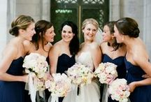 ~ Navy Maid of Honor Dresses ~
