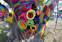Yarnbomb / Knitted n crochet Yarnbombs of items
