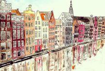 Amsterdam Sketchbook / Amsterdam 24.01.2016 - 29.01.2016