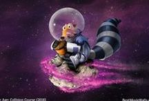 Ice Age Series wallpapers / HD wallpapers for Ice Age with Scrat, Diego, Manny, Sid and the other characters!