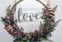 Wedding wreath - Hula hoop