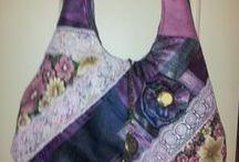 handmade bags/ vesker / Jeg elsker gjenbruk. Her viser jeg noe selvlaget og noe av det jeg liker fra Pinterest.
