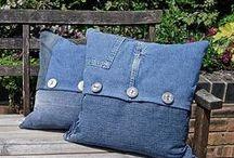 riciclo jeans / la nuova vita dei vecchi jeans