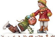 Hubrig Winter Children / The Hubrig Winter Children are famous and popular all over the world. The lovely figures are handmade and painted and tell the magical story of a beautiful winter's day.