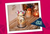 Warmer & Fragrance of the Month / Every month, Scentchips showcases a Warmer and a Blend of the Month! Save on them through the month!