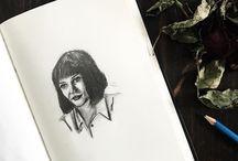 Retratos a lápiz / Mis dibujos a lápiz