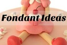 Ideas con Fondant / tartas, toppers, fondant , ideas faciles y divertidas. cupcakes galletas