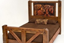 Horse Home Decor & Furnishings / Horse themed furniture hand-crafted from solid reclaimed wood, eco-friendly salvaged driftwood or recycled copper.