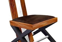 Unique Dining Chairs / Unique dining chairs to compliment our many styles of hand-crafted furniture. Find that perfect chair to match your one-of-a-kind Woodland Creek dining table! / by Woodland Creek Furniture