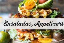 Ensaladas y Entrantes / appetizers, ensaladas, entrantes, aperitivos, fáciles. reunión con amigos
