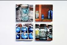 """My Photographs on Stone Coasters / Art and function combine in these stone coasters. Measure 4"""" x 4"""" - set of four, sharonschindlerphotography.com"""