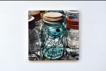"""My Photographs on Stone Trivets / Art and function combine in these stone trivets - measure 7""""x 7"""""""
