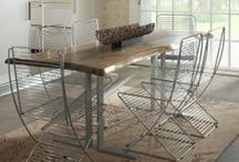 Natural Live Edge Tables / by Woodland Creek Furniture