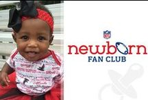 NFL Newborn Fan Club / NFL fandom starts young! These little tikes will be in the stands – or on the field – soon enough.