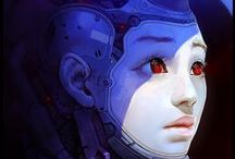 Android Girl / cyborg girl, female bot, android, replicant, female humanoid, robot girl, fembot, cyberpunk girl, female robot, drone