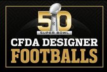 #SB50Footballs / 50 CFDA designers, 50 footballs. Discover their designs, BTS action, and bid on your favorite football to support the NFL Foundation.