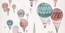1° compleanno / HoT Air BaLLooN Theme/ Finger Food / Cakes / Set Up IdeaS / IlluStraTionS