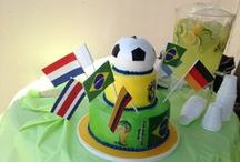 World Cup Day / We really got into the World Cup this year. Everyone had their own favorite teams (in addition to #TeamUSA of course). To celebrate the end of the global phenomenon we had a barbecue and a VERY cool theme cake.