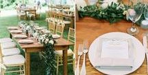 Farm tables / Reclaimed wood farm tables for your wedding or special event that create a warm, inviting atmosphere