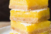 Lemony Desserts & Cakes / Tangy and Juice recipes using lemons