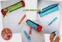 Bricolages pour la rentrée scolaire par les p'tits loulous de Gaëla / Bricolages et activités des enfants/assistante maternelle