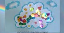 Bricolages sur la météo et le ciel par les p'tits loulous de Gaëla / Bricolages et activités des enfants/assistante maternelle