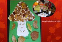 Bricolages pour l'automne par les p'tits loulous de Gaëla / Bricolages et activités des enfants/assistante maternelle