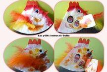 Bricolages pour Pâques par les p'tits loulous de Gaëla / Bricolages et activités des enfants/assistante maternelle