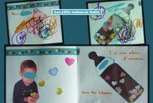 Bricolages pour la naissance d'un(e) petit(e) frère ou sœur par les p'tits loulous de Gaëla / Bricolages et activités des enfants/assistante maternelle