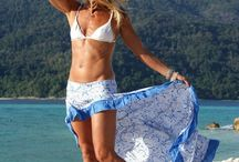 Gonne / Beach flare maxi skirt