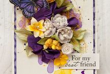 flowery cards / beautiful flower cards
