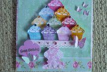 cupcake,teacups,teapots and jar cards