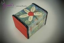 Boxes by Kyriaki's Atelier / Unique Boxes teenager gift, gift for her, Home decor, Storage boxes, Play card box, jewelry boxes