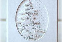 christmas cards 4  white on white