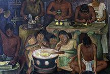 Diego Rivera / (Guanajuato, 8 de diciembre de 1886 — Ciudad de México, 24 de noviembre de 1957)1 fue un destacado muralista mexicano de ideología comunista, famoso por plasmar obras de alto contenido social en edificios públicos.